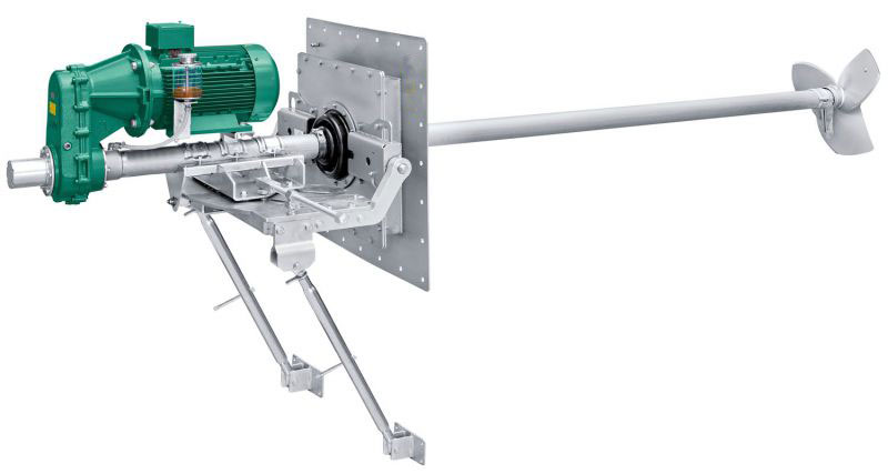 Digonal / Inclined Side Entry type Agitator/Mixer - Jog